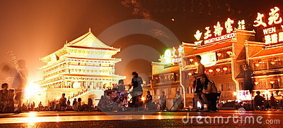 China Xi an night scene