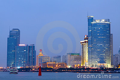 China Xiamen night view Editorial Photo