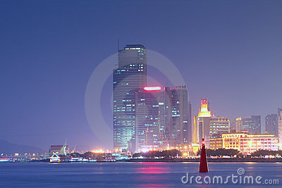 China Xiamen night view Editorial Photography