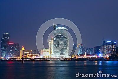 China Xiamen night view Editorial Image