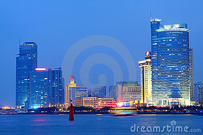 China Xiamen night view Editorial Stock Image
