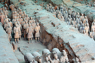 China/Xian:Terracotta Warriors and Horses