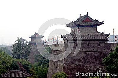 China Xian (Xi an) City Wall