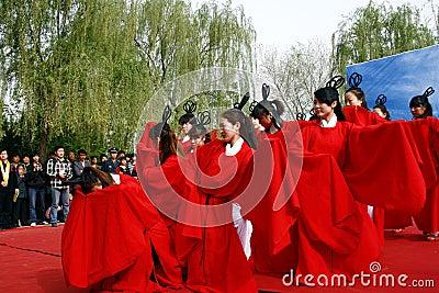 China Xingtai:Ritual ceremony Editorial Stock Photo