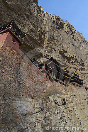China Xuankong temple built in cliff