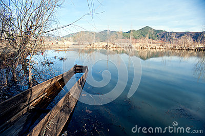 The China Yunnan morning Lugu Lake