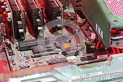 2013ChinaJoy:Jingxian tank level computer equipment Editorial Photo