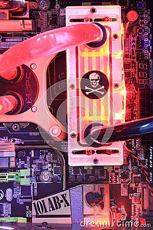 2013ChinaJoy:XSPC liquid chassis Editorial Image