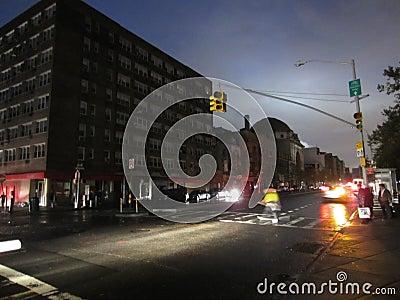 Chinatown após o furacão Sandy Foto Editorial