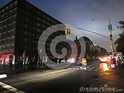 Chinatown after Hurricane Sandy Editorial Photo