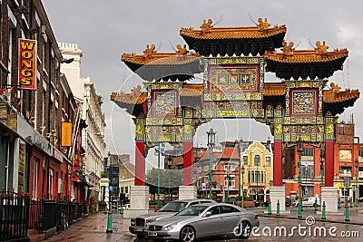 Chinatown. Liverpool. Inglaterra Imagen de archivo editorial