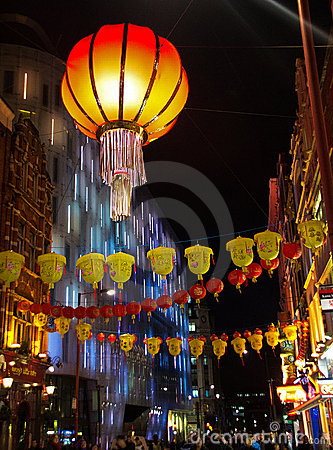 Chinatown in London Editorial Image