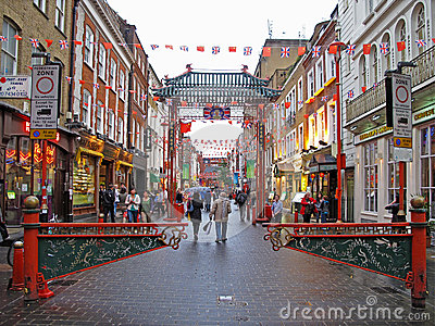 Chinatown in London Editorial Photography