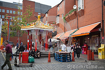 Chinatown in London Editorial Stock Image