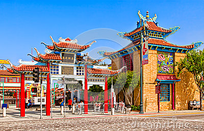 Chinatown In Los Angeles Editorial Photography