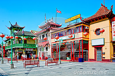 Chinatown In Los Angeles Editorial Image