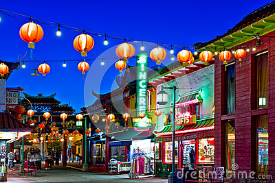 Chinatown In Los Angeles Editorial Stock Image