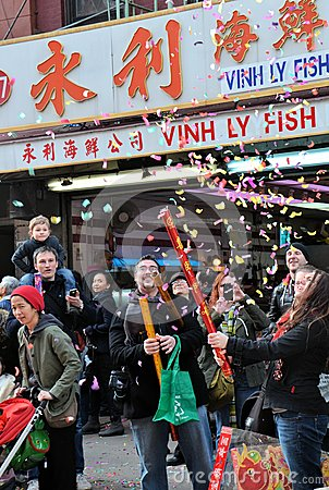 Chinatown Lunar New Year Celebration Editorial Photo