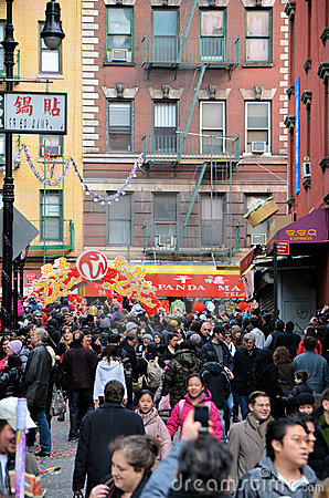 Chinatown Lunar New Year Parade Editorial Stock Photo