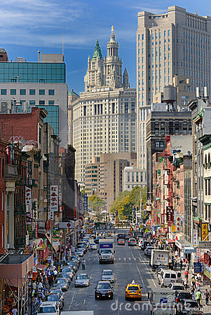Chinatown New York City Editorial Stock Photo