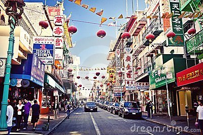 Chinatown in San Francisco Editorial Photo
