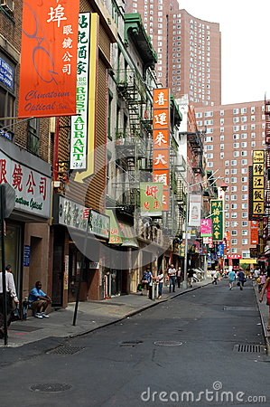 Chinatown Street in New York City Editorial Stock Photo