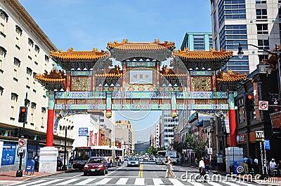 Chinatown in Washington DC, USA Editorial Photography
