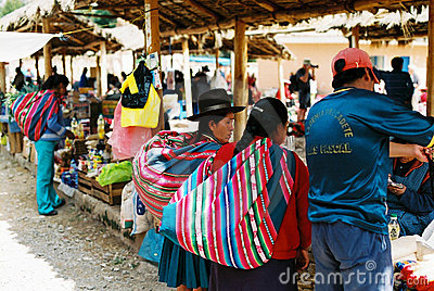 Chinchero Sunday market, Peru Editorial Stock Photo