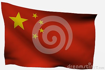 Chinese 3D flag