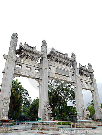 Chinese Acient Temple Entrance