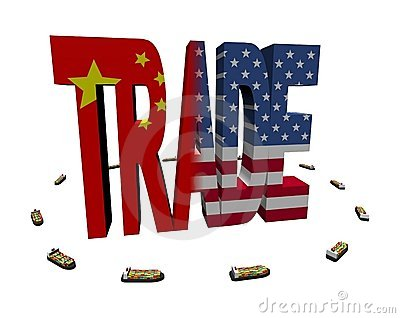 Chinese American trade with ships