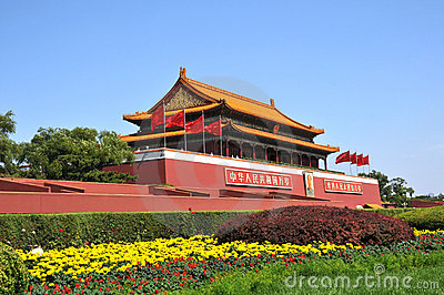 Chinese ancient building of TianAnMen gate