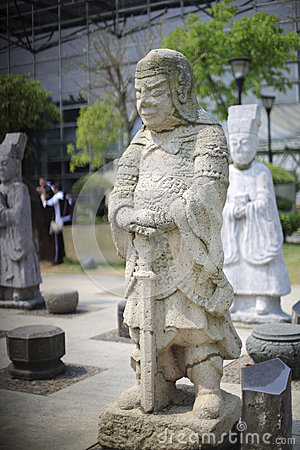 Chinese ancient general stone statue