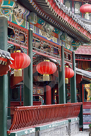 Chinese ancient long corridor