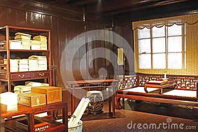 Chinese ancient study room