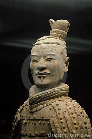 Free Chinese Ancient Terracotta Warrior Portret. Royalty Free Stock Images - 11679069