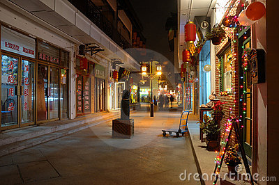 Chinese ancient town street Editorial Image