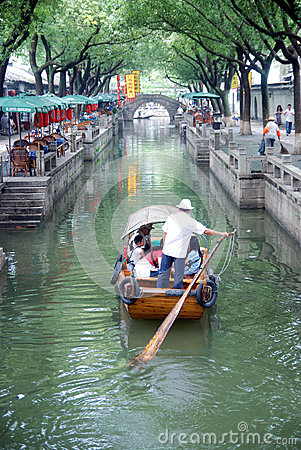 Chinese ancient town in Tongli Editorial Image