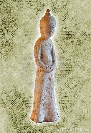 Chinese ancient woman statue - Tang dynasty