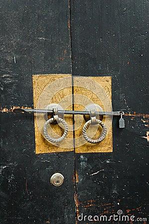 Chinese antique door-handles.