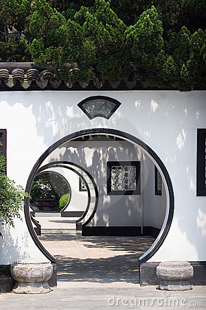 Free Chinese Arched Door Stock Images - 5745984