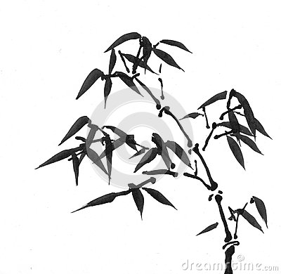 Chinese Art: Ink Painting Stock Illustration - Image: 60577945