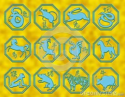 Chinese astrology symbols