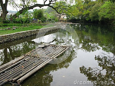 Chinese bamboo raft