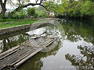 Chinese bamboo raft
