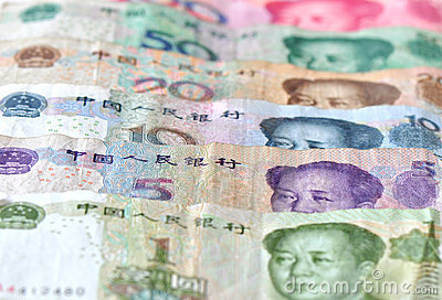 Chinese banknotes background