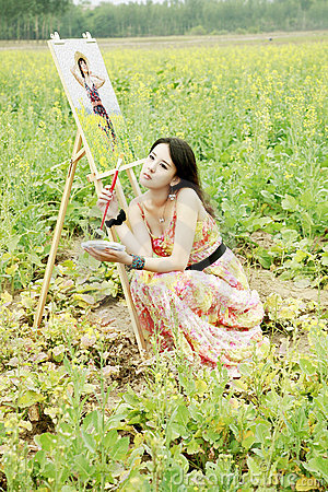 Chinese beauty outdoor
