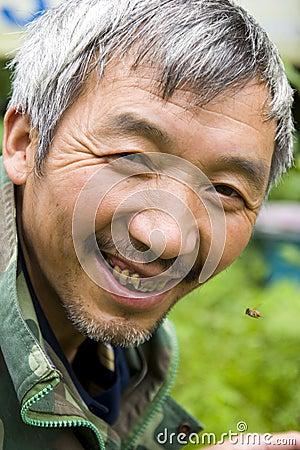 Chinese bee farmer