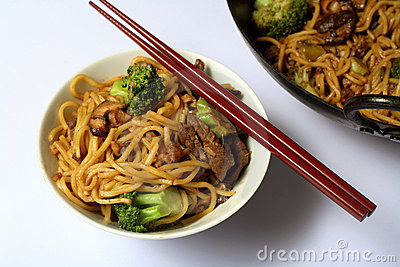 chinese beef noodle chow mein