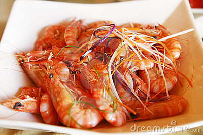 Chinese boiled shrimp